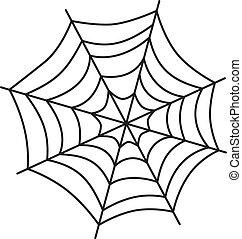 web, kunst, spinne
