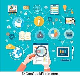 web, pc, schirm, tabellen, standort, analytics, seo