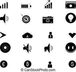 web, satz, icons., sammlung, ikone, technologie, design.