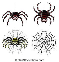 web, satz, spinne, &
