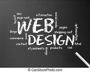 web, tafel, -, design
