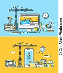 Web- und App-Entwicklungskonzepte