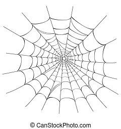 web, vektor, spinne, weißes