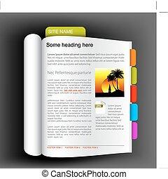 Website Template - offenes Buch