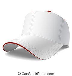 Weiße Baseballkappe