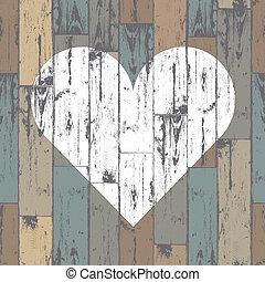 Weißes Herz im Wald. Vector, EPS10