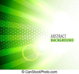 Weißes Licht im grünen Hintergrund