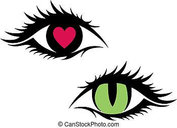 Weibliche Augen, Vektor
