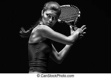 Weibliche Tennisspielerin