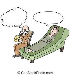 Weibliche Therapie.