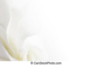 Weicher weißer Blumen Hintergrund