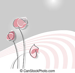 Weiches Blumendesign.