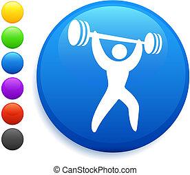 Weightlifter Icon im Internet-Knopf