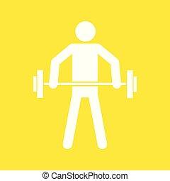 Weightlifting Sportfigurensymbol Vektorgrafik.