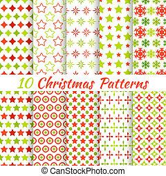 Weihnachten unterschiedliche Vektoren, nahtlose Muster.