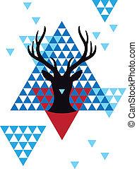 Weihnachts-Geometrisches Muster.