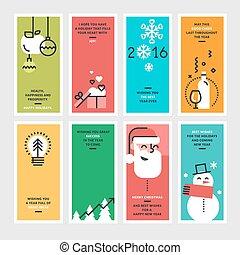 Weihnachts- und Jahreskarten.