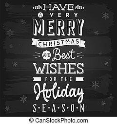 Weihnachts- und Weihnachtszeitgrüße, Kreidetafel