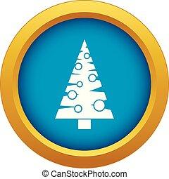 Weihnachtsbaum Ikonen blau Vektor isoliert.