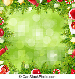 Weihnachtsbaumgrenze mit verschwommenem Fleck