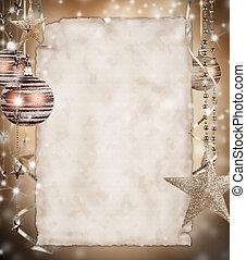 Weihnachtsgeschichte mit leerem Papier