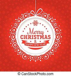 Weihnachtsgrüßkarte.