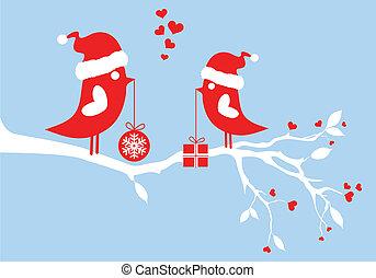Weihnachtsmannvögel, Vektor
