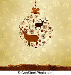 Weihnachtsschmuck aus Schneeflocken. EPS 8