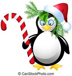 weihnachtsteller, pinguin