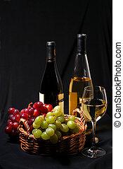 Wein und Trauben.
