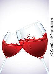 Wein verschüttet