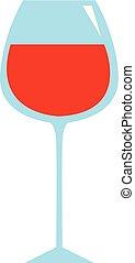 Weinglas Hand gezeichnet Design, Illustration, Vektor auf weißem Hintergrund.