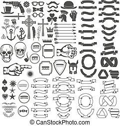 weinlese, elemente, logo