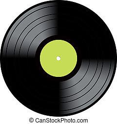 weinlese, scheibe, vinyl, langspielplatte, aufzeichnen