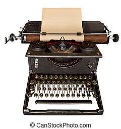 weinlese, schreibmaschine
