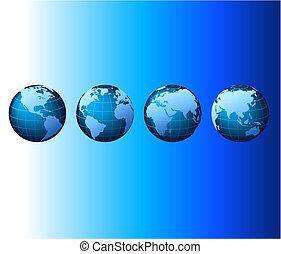 Welt - globale Set-Serie - Vektor