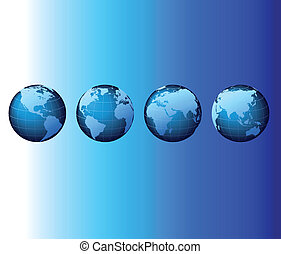 Welt - globale Set-Serie - Vektor.