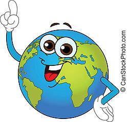 welt globus, karikatur