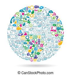Weltfarbe der sozialen Medien