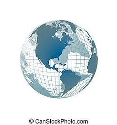Weltkarte, 3D Globus
