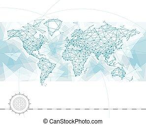 Weltkarte.