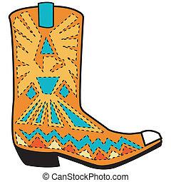 Western Boot Clip Art.