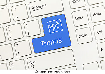 White conceptual keyboard - Trends (blue key)