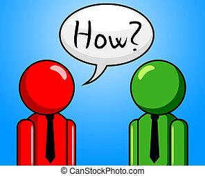 Wie Frage zeigt häufig gestellte Fragen und Antworten.
