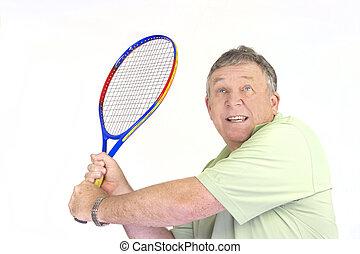 Wiederkehrende Tennisspieler.