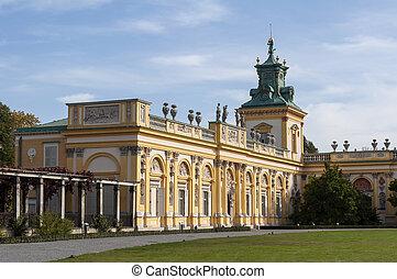 Wilanow Palast, Kriegsschaue, Poland.