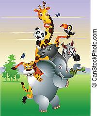 Wild afroanische Tier-Cartoon