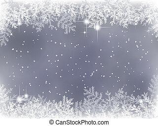 Winterhintergrund mit Weihnachtsdeko