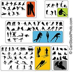 Wintersport-Silhouettes-Sammlung