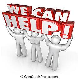 Wir können Kundendiensthelfern helfen